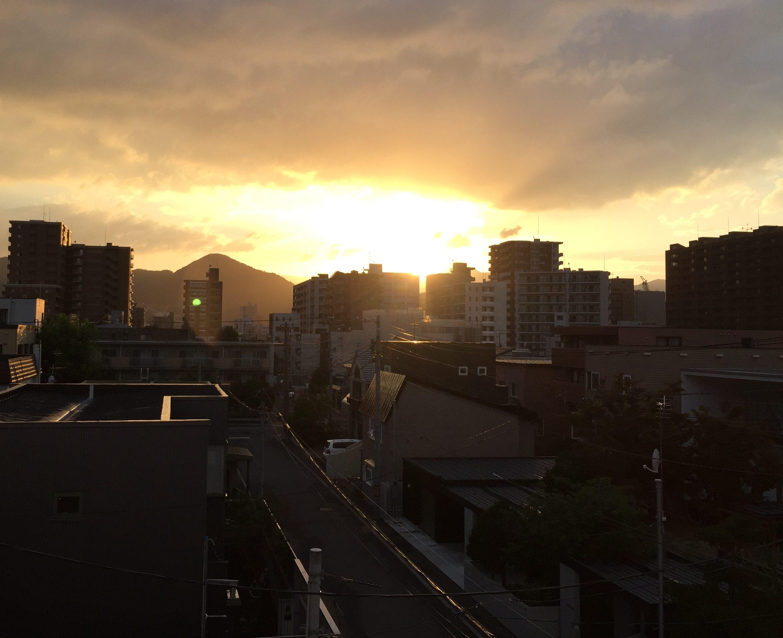 2016年8月31日 札幌初日の夕日