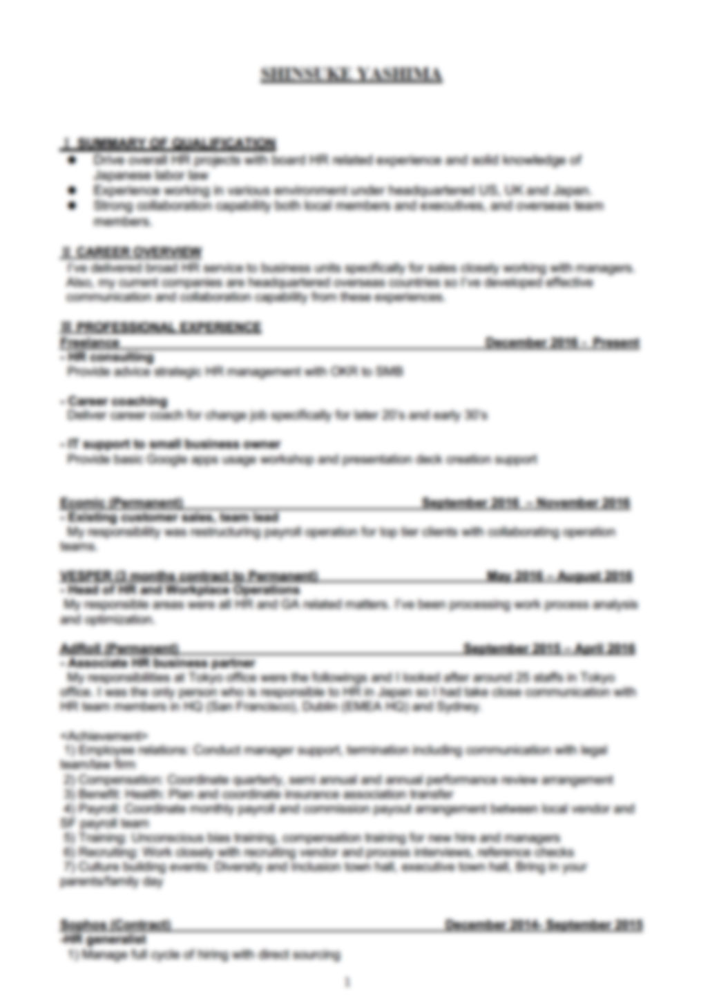 English-resume-sample-1
